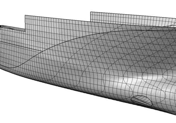 Modèle 3D - carène B2M